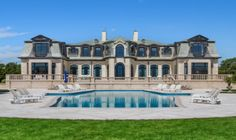 The Long Branch mansion fronts the Atlantic Ocean and features 10 bedrooms, lavish finishings a pool and two pool houses - 2016