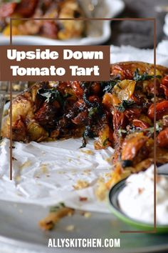 My recipe for upside-down tomato tart graced the cover of Food Network magazine. Yes, this recipe was tested in the FN kitchen and it is award-winning! #easytomato #tomatorecipe Healthy Meals For Kids, Good Healthy Recipes, Quick Easy Meals, Kids Meals, Easy Recipes, Healthy Snacks, My Favorite Food, Favorite Recipes, Thing 1