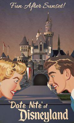 Date Nite at Disneyland vintage ad