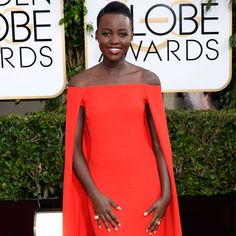 Lupita Nyong'o, 2014 Golden Globe Awards  Brown Beauty, Fashion, Couture, Black Beauty, #BrownBeauty, Style, African-American, Glamour, Glam, High Fashion, Couture, Beauty, Natural Hair, Team Natural, Golden Globes, Golden Globe Awards