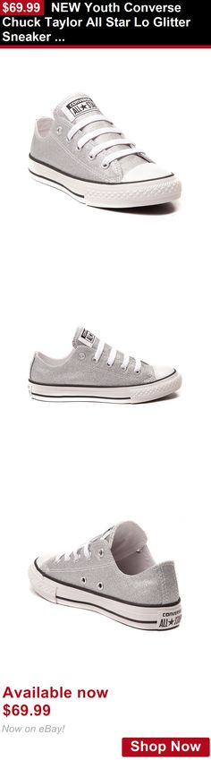 Children girls clothing shoes and accessories: New Youth Converse Chuck Taylor All Star Lo Glitter Sneaker Silver Girls Kids BUY IT NOW ONLY: $69.99