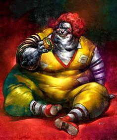 Ronald McDonald supersized