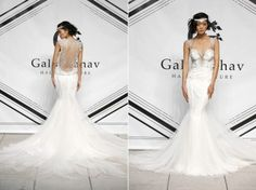 Galia Lahav Fall 2015 mermaid wedding dress with lace illusion back