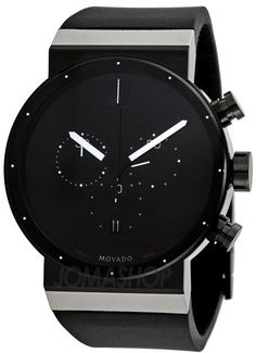 Movado Sapphire Synergy Black Dial Chronograph Mens Watch 0606501 #menwatches
