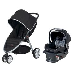 Britax B-Agile Travel System. Love this stroller and car seat! Thanks to my mom for getting it for Lucca :)
