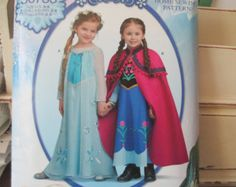 Simplicity 0733 Frozen Costumes for Girls sizes 3-8