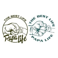 The Best Life Papa Life Cuttable Design Baby Silhouette, Papa T Shirt, Dad To Be Shirts, Vinyl Crafts, Vinyl Projects, Printable Poster, Printable Letters, Cutting Tables, Silhouette Cameo Projects