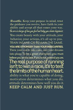 Keep calm and run dammit!!
