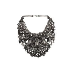 Hematite statement necklace