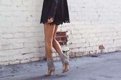 Fringe Suede Sandals — songofstyle