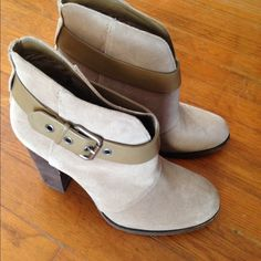 """Selling this """"Suede ankle bootie with  buckle trim"""" in my Poshmark closet! My username is: adarcus. #shopmycloset #poshmark #fashion #shopping #style #forsale #Jessica Simpson #Shoes"""