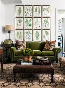 hunter green couch blue living room - Bing images