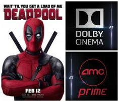 Learn why you should see the #DeadpoolMovie on Feb 12, 2016 in #‎DolbyCinema‬ at AMC Prime. #‎deadpool‬