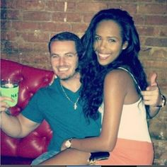 Winning! Gorgeous interracial couple enjoying a night out together #love #wmbw #bwwm