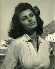 "Sophia Loren on Hydra for filming of ""Boy on a Dolphin"" 1957"