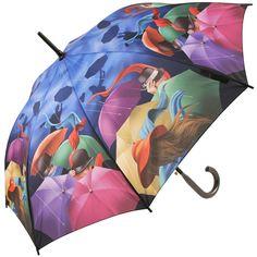 Galleria Art Print Walking Length #Umbrella - Stormy Night - Brolliesgalore