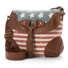 2b79109e4244 Mudd Jessie Patriotic Crossbody Bag Fringe Crossbody Bag