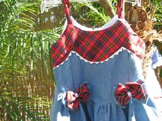 Absolutely Darling Sundress in Blue Chambray with by PeoplePuppys