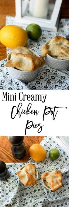 Mini Creamy Chicken Pot Pies - Comfort food is a weakness, and why not eat something healthy.  This recipe is so easy and delicious.