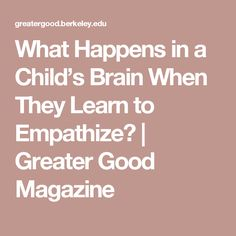 A new study explores what brain changes happen when children start understanding that other people may have different thoughts, beliefs, or perspectives. Child Development Psychology, Therapy Tools, Therapy Ideas, Cool Magazine, Kids Behavior, Greater Good, Yoga For Kids, Kids Health, Summer School
