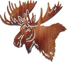 MOOSE WALL ART / WILDLIFE - NATURE HUNTING LODGE DECOR - LASER CUT ...