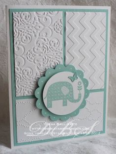 How about a crisp and fresh baby card today? I have two versions with lots of texture thanks to my &helip;