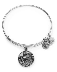 "Alex and Ani Phoenix Expandable Wire Bangle | Made in USA | 2.25"" diameter 