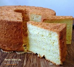 Cuisine Paradise | Singapore Food Blog | Recipes, Reviews And Travel: 5 Assorted Chiffon Cakes Recipes - Part II - Durian Chiffon Cake