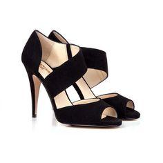 Norah Black Vegan High Heel Sandal   Beyond Skin US