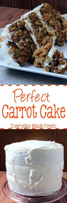 This is the most Perfect Carrot Cake you'll ever sink your teeth into. Moist, decadent, and simple to make! | EverydayMadeFresh.com