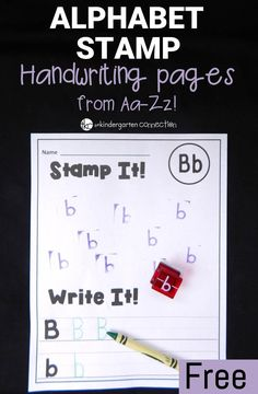 Have a blast working on the alphabet with these fun and free alphabet stamp handwriting pages! So engaging for kids to stamp and write, and perfect for literacy centers!