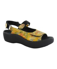 Look at this Wolky Yellow Jewel Leather Sandal on #zulily today!