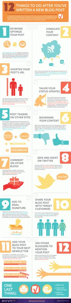 Brody Dorland and team ROCK the house with this infographic on things to do after you write a blog post!