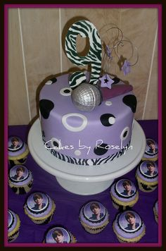 Justin Bieber cake and cupcakes