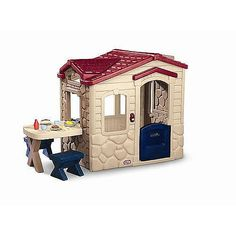 """Little Tikes Picnic On The Patio Playhouse - Little Tikes - Toys """"R"""" Us Little Tikes Playhouse, Outside Playhouse, Build A Playhouse, Playhouse Outdoor, Outdoor Toys, Outdoor Fun, Outdoor Decor, Cubby Houses, Play Houses"""