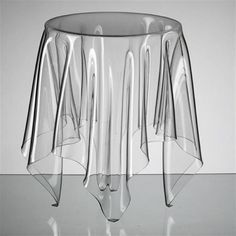 Clear Acrylic Illusion Table Furniture by John Brauer