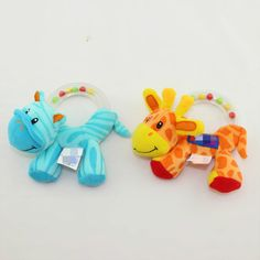 Ring the giraffe little zebra beads hand grasp a bell ring baby toys Baby Learning Toys 0-12 Months Plush