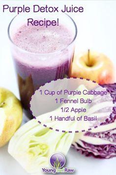 purple detox juice