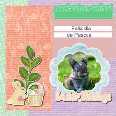Pagina layout dedicado al dia pascua hecho con Scrapbook Max