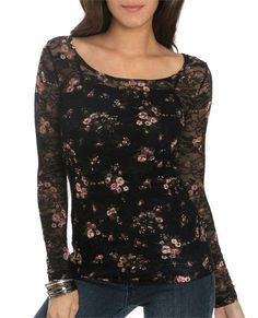 Lace Floral Top - Wet Seal