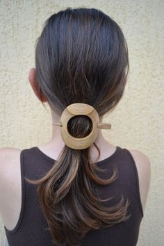 This Hair Accessory is hand carved by Ivaylo Zlatev this barrette is made from cherry wood. It measures long by wide and Pin Natural colour of wood. Its very light weight when worn. Hair Slide, Hair Sticks, Wooden Jewelry, Hair Barrettes, Wedding Hair Accessories, Hair Comb, Hair Jewelry, Wood Carving, Hair Pins