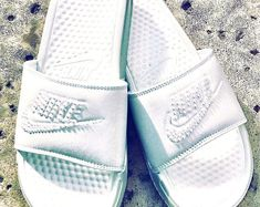 Womens Nike Benassi JDI Slides in White with hand placed Swarovski flatback pearl details Mother Day Gifts, Gifts For Mom, Nike Benassi, Perfect Gift For Mom, Real Friends, Glam Makeup, Mom Birthday, Bad Hair, Fashion Design