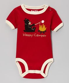 Red 'Happy Camper' Bodysuit - Infant   Daily deals for moms, babies and kids - ends 11/5
