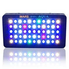 MarsAqua Dimmable 165W LED Aquarium Light Lighting Full Spectrum For Fish Freshwater and Saltwater Coral Tank Blue and White LPS/SPS -- Continue to the product at the image link.