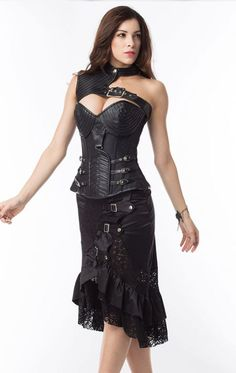 613ee9342 Apple Curves Vintage Armor Corset Steampunk Clothing
