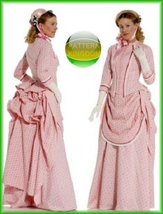 Burda 7880 Period Authentic Victorian Skirt/Dress Patterns