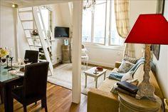 Paris Arrondissement 7 Vacation Rental - VRBO 43363 - 0 BR Paris Studio in France, Romantic Artist's Loft, Magic Eiffel Views,Steps Rive...