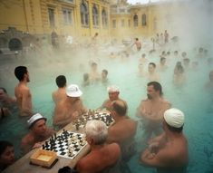 Szechenyil thermal baths, Budapest, Hungary, 1997 - Martin Parr
