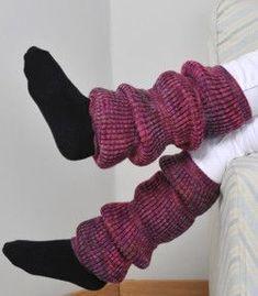 Tekstiiliteollisuus - patenttineule säärystimet ohje Leg Warmers, Winter Fashion, Socks, Legs, Crochet, Diy, Accessories, Handicraft Ideas, Knitting Ideas