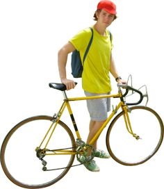 #141 Flashback! This is me on my yellow no name road bike in France 2007.